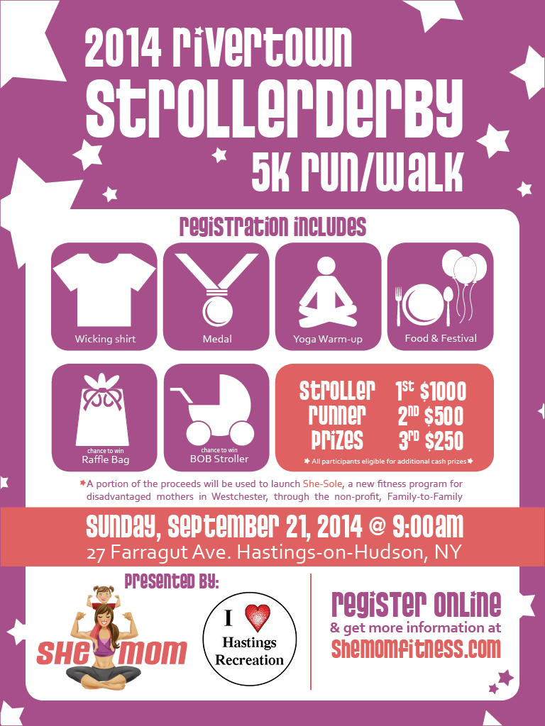 2014 Rivertown Strollerderby 5K Run/Walk Flyer